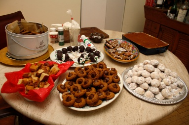 Our dessert table.