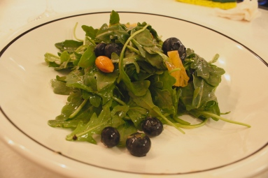 Arugula Salad with Blueberries and Orange Vinaigrette