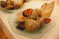 Grilled Chorizo and Clams