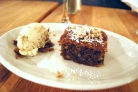 Walnut Cake and Walnut Ice Cream at Kefi