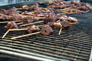 Grilled Duck Hearts